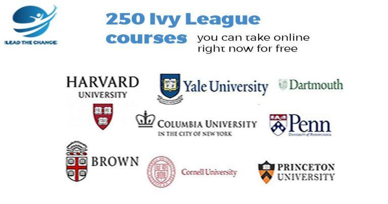 ivy league universities free online courses